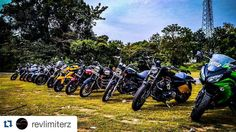 The line up from one of our recent rides.  #revlimiterz #mangalore #coastalsuperbikers #PDArmy  #Repost @revlimiterz with @repostapp