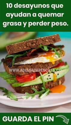 10 breakfasts to burn fat and lose weight - Comidas saludables - Easy Healthy Recipes, Diet Recipes, Vegetarian Recipes, I Want Food, Love Eat, Health Breakfast, Healthy Life, Food And Drink, Wellness