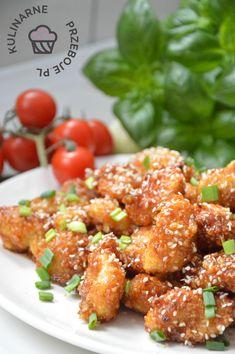 Chrupiący kurczak miodowo-czosnkowy – bez smażenia! Pyszne kawałki pieczonego kurczaka w panierce panko z dodatkiem sosu miodowo-czosnkowego to coś, co uwielbiam :) Świetnie sprawdzą się jako danie na obiad, np. podawane z ryżem, ale także jako kąski kurczaka na imprezę – wystarczy po prostu powbijać w nie wykałaczki :) Więcej przekąsek znajdziecie tutaj: przekąski na … Tasty, Yummy Food, New Years Party, Aga, Tandoori Chicken, Catering, Grilling, Lunch Box, Food And Drink