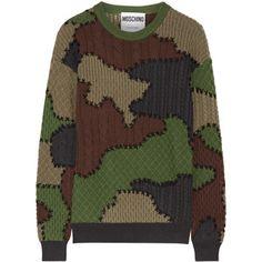Moschino Patchwork-intarsia wool sweater