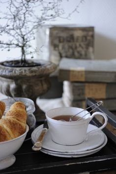 Tea and croissants