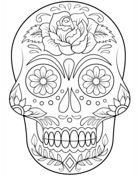 http://www.supercoloring.com/coloring-pages/day-of-the-dead-skull