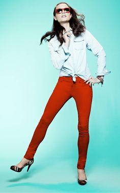 Red skinnies - <3  #denim #jeans #impulse #macys BUY NOW!
