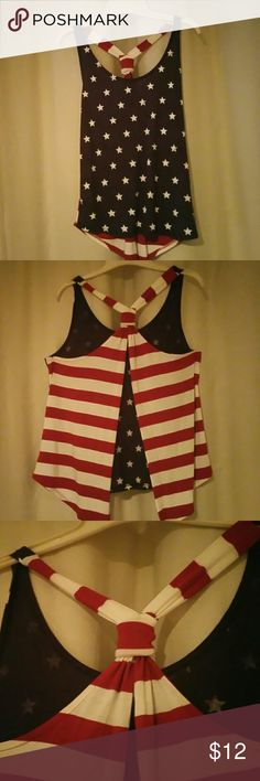 Spotted while shopping on Poshmark: Guess Patriotic Tank Top Sz...XS! #poshmark #fashion #shopping #style #GUESS #Tops