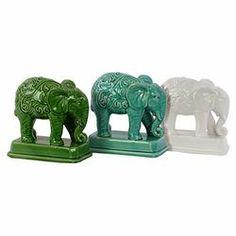 Home and Garden Elephant Figurine (Set of 3)