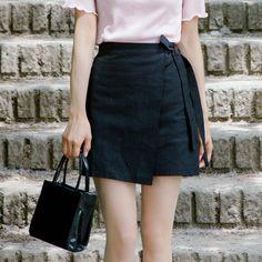 リボンラップスカート 韓国発ストリート系ファッションセレクトショップ♪ 韓国の人気芸能人も愛用!