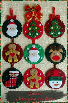 Christmas Sewing, Christmas Crafts For Kids, Xmas Crafts, Christmas Art, Christmas Projects, Silver Christmas Decorations, Felt Decorations, Felt Christmas Ornaments, Dog Ornaments