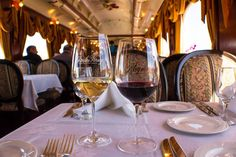 Travel through the majority of Napa Valley while visiting Charles Krug Winery and Raymond Vineyards from the comfort of the Napa Valley Wine Train.
