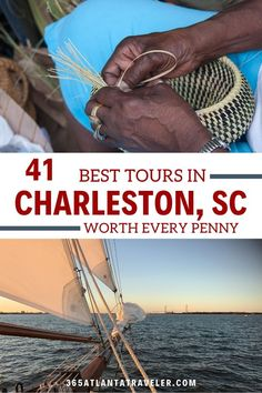 Whether you want to learn the about the history or the ghosts, or see the city from the water or from a horse-drawn carriage --one ( or three) of these Charleston tours is sure to work for you. South Carolina Vacation, North Charleston South Carolina, Charleston Tours, Myrtle Beach Things To Do, Sailing Lessons, Cruise Excursions, Travel Usa, Travel Tips, Travel Ideas