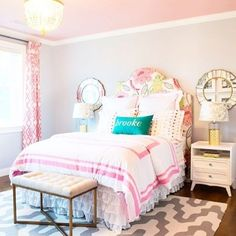 Such a pretty room!Credit to Dina Holland Interiors... - Home Decor For Kids And Interior Design Ideas for Children, Toddler Room Ideas For Boys And Girls