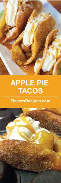 Apple Pie Tacos  #Recipe #Pie #dessert