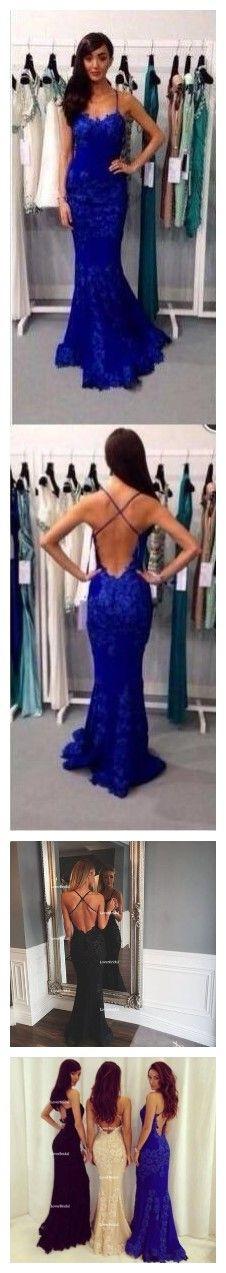 Spaghetti Straps Prom Dresses,Mermaid Prom Dresses,Blue Prom Dresses , Backless Prom Dresses,Cocktail Prom Dresses ,Evening Dresses,Long Prom Dress,Prom Dresses Online,PD0150