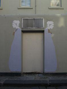 Stanislava Pinchuk's babushka street art