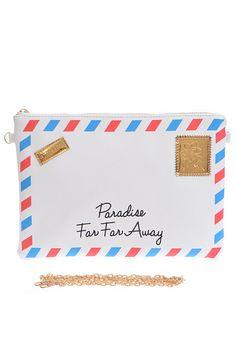 """Paradise Far Far away"" Clutch"