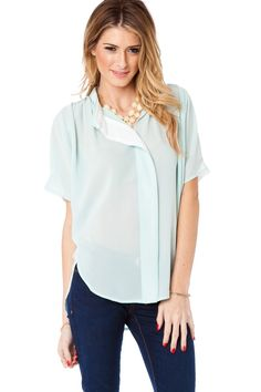 Sophie Blouse in Mint / ShopSosie #tops #blouse #mint #shopsosie