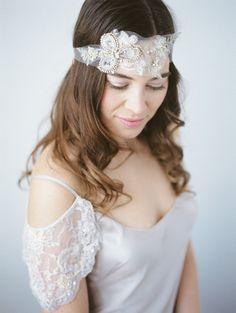 Wedding Bridal Bandeau Headpiece, Geode Headpiece, wedding headband, bridal headpiece, bandeau, abigail grace bridal