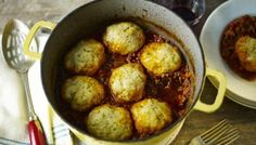 Embrace autumn with a great, big hug of a dish: The Hairy Bikers' know how comforting a big pot of mince and dumplings can be. Suet Dumplings, Stew And Dumplings, Minced Beef Recipes, Beef Mince Recipes, Beef Meals, Mince Dishes, Beef Dishes, Turkey Mince, Cooking Recipes