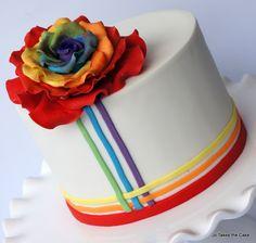Birthday Cakes - Rainbow rose