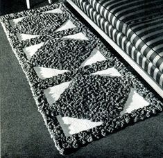 Sectional Tufted Rug Patterns | Crochet Patterns- vintage