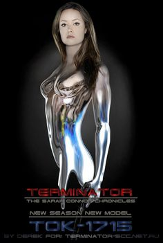 """Terminator Cameron from TV-show """"TERMINATOR: The Sarah Connor Chronicles"""" fanart. - this artwork was made by russian's author Derek from . Also you can see my version of TERMINATOR E. Sci Fi Movies, Action Movies, Summer Glau Terminator, Terminator Movies, Skynet Terminator, Cyborg Girl, Sci Fi Tv Shows, Cinema Tv, Sci Fi Fantasy"""