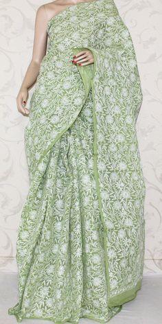 Lucknowi Chikan Saree (W/B-Cotton) 12892