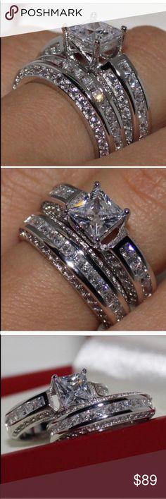 Details about  /Split Shank Engagement /& Wedding Decorative Ring 14k Gold 2.7 Ct Sparkle Diamond