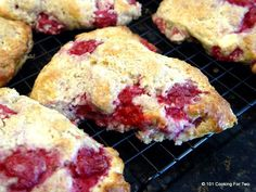 101 Cooking For Two - Everyday Recipes for Two: Raspberry Cream Cheese Buttermilk Scones