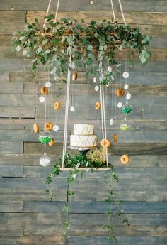 Industrial Loft Wedding Inspiration by Revel + Bloom Loft Wedding, Garden Party Wedding, Trendy Wedding, Wedding Table, Rustic Wedding, Garden Parties, Fort Lauderdale Wedding, Garden Cakes, Moss Wall