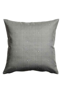 Slub-weave cushion cover - Grey - Home All | H&M 1