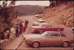 """Scenic viewpoint,"" Rocky Mountain National Park, Colorado. Boyd Norton, May 1972."