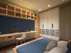 Dr Akash's Residence – Pavan Infratech Home Stairs Design, House Design, Apartment Interior, Apartment Design, Flat Interior Design, Interior Stair Railing, Bedroom Bed Design, Master Bedroom, Wardrobe Door Designs