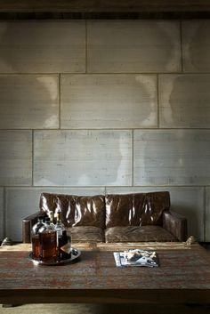 extra large wall tiles ++ cozy, masculine