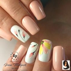 - ✔️Весенний маникюр 2019 тренды: модные тенде… ✔️Spring manicure 2019 trends: fashion trends, the most beautiful nail design – photo - Fall Nail Art Designs, Pink Nail Designs, Beautiful Nail Designs, Acrylic Nail Designs, Acrylic Nails, Winter Nails, Spring Nails, Summer Nails, Cute Nails