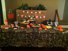 Hunting theme birthday party.