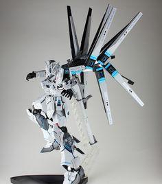 GUNDAM GUY: MG 1/100 Nu Gundam Ver. Ka W Funnel Destroyer - Customized Build