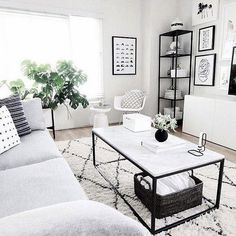 6 Fabulous Useful Tips: Minimalist Bedroom Furniture Apartment Therapy minimalist home modern floor plans.Minimalist Living Room Boho Floors minimalist home scandinavian lamps.Minimalist Home Diy Ideas. Living Room Grey, Living Room Interior, Home And Living, Black White And Grey Living Room, Interior Livingroom, Coffee Table Grey Living Room, Condo Living Room, Living Room Ideas With Grey Couch, Grey Couch Decor