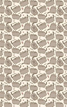 Pusheen wallpaper this is so adorable! I love Pusheen she's so so cute who doesn't love a cat with bean toes? Kitty Wallpaper, Wallpaper Telephone, Handy Wallpaper, Kawaii Wallpaper, Pattern Wallpaper, Cute Backgrounds, Wallpaper Backgrounds, Iphone Wallpapers, Iphone Backgrounds