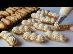 YAPTIĞIM GİBİ HEMEN BİTTİ🙈 BU NASIL BİR KREMA BAKARMISINIZ😍 2 TEPSİ DOLUSU TAM ÖLÇÜLÜ EKLER TARİFİ - YouTube Cookies, Desserts, Food, Gourmet Recipes, Homemade, Bugle Beads, Amigurumi, Crack Crackers, Tailgate Desserts
