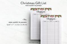 Christmas Gift List MINI Happy Planner Gift List Christmas