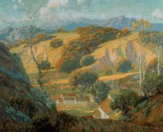 California Valley Farm Painting  - California Valley Farm Fine Art Print