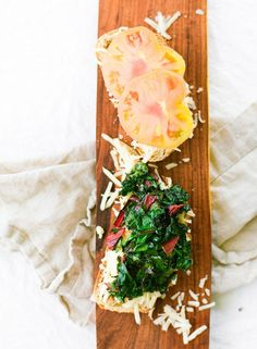 Swiss Chard & tomato grilled cheese: http://www.stylemepretty.com/living/2015/08/01/fancified-grilled-cheese/ | Photography: Constance Higley - http://laurenkelp.com/constance-higley/