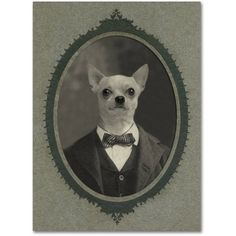 Trademark Fine Art 'Dog Series #1' Canvas Art by J Hovenstine Studios, Size: 14 x 19, Gray