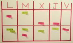 Calendario organizador con washi tape