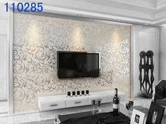 mobile site-Free Ship Wallpaper High Quality Flocking Wall Paper Modern Simple Design Decorative Wallpaper TV Setting Wall/bedroom/Porch