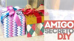Caixa de presente DIY e Amigo secreto                                                                                                                                                     Mais