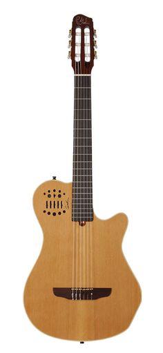 El mejor sonido amplificado de cuerdas de nylon en el mercado, con acceso a sintetizadores, apariencia moderna y fácil de amplificar. Pero... no se 'siente' como Mi Guitarra. Una guitarra verdaderamente clásica con la electrónica de esta guitarra es mi nuevo foco. ¿Quién hace algo así?