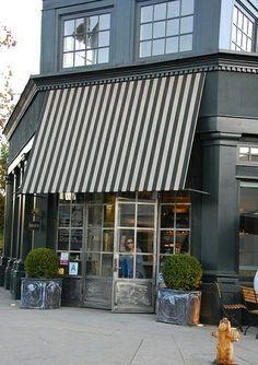 black white striped awnings - Google Search