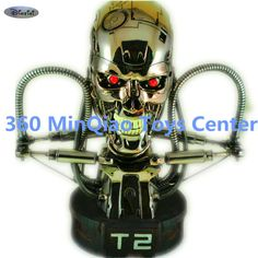 (370.14$)  Buy here  - Statue Terminator 1:1 Bust T2 Skull Cool Light Silver Plating GK Action Figure Collectible Model Toy RETAIL BOX WU874