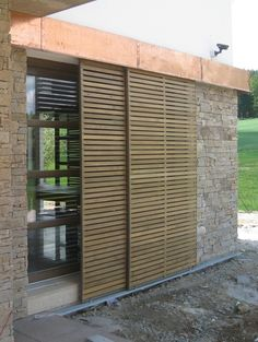 Metal Windows, Windows And Doors, Fence Design, Patio Design, Modern Barn House, Window Grill, Miller Homes, Shutter Doors, House Rooms