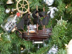nautical christmas tree | Model Ship Nautical Christmas Tree Ornament - Nautical Christmas Tree ...